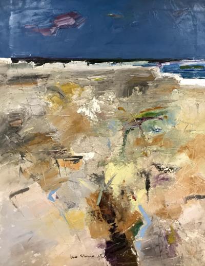 Ivo Stazio - Arenile - olio su tela - cm 70 x 90 - anno 2015