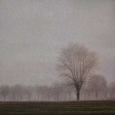 Ernesto Ubertiello - Come musica - olio su tela cm 60X60 - anno 2009