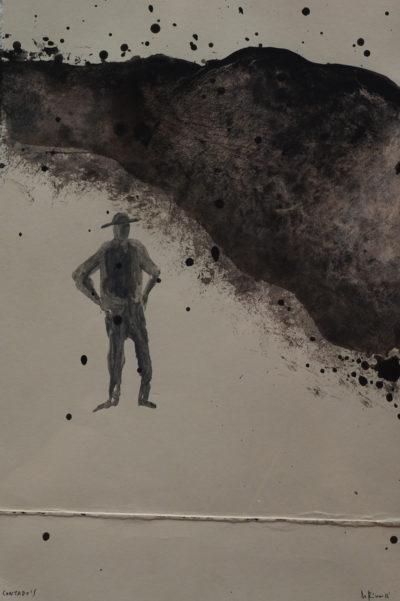 Denis Riva - Contodo's n°2 - olio su carta cm 24,5X16 - anno 2016