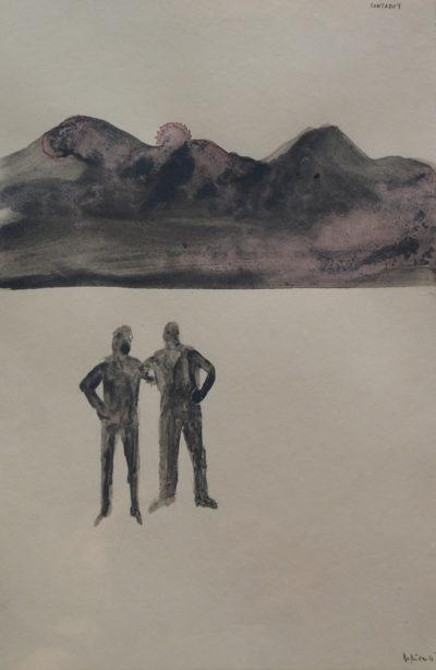 Denis Riva - Contodo's, - olio su carta cm 24,5X16 - anno 2016