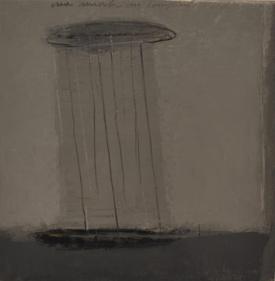 Alfredo Casali - Una nuvola un temporale - ossidi e acrilico su tela - cm50x50 - anno 2016