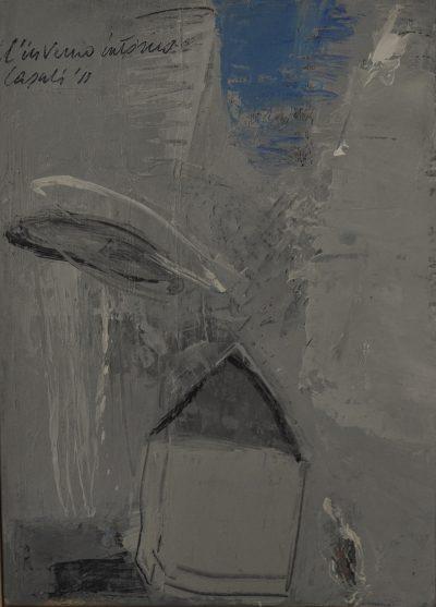 Alfredo Casali - L'inverno intorno - olio su tela - cm35x25 - anno 2011