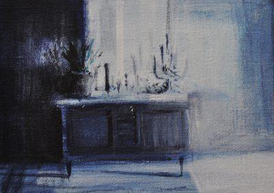Tina Sgro' - Minuscolo - acrilico su tela - cm13x18 - anno 2014