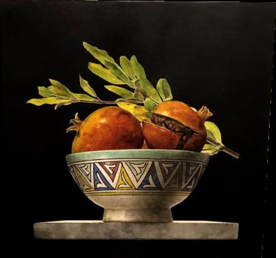 Ottorino De Lucchi - Fine settembre - tecnica drybrush su tavola incamottata - cm 36,5 x 36,5 - anno 2015