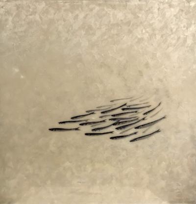 Lorenzo Lazzari - Idromania - tecnica mista su tela - cm 50 x 50 - anno 2012