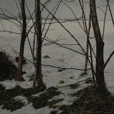 Ernesto Ubertiello - Impronte - olio su tela cm 30X30 - anno 2013