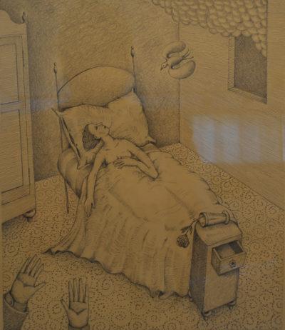 Claudio Benghi - In solitaria stanza - matita cm 35X30