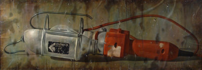 Gioachino Passini - Lampada spenta - olio su tela cm 70x200 - anno 1998Gioachino Passini - Lampada spenta - olio su tela cm 70x200 - anno 1998