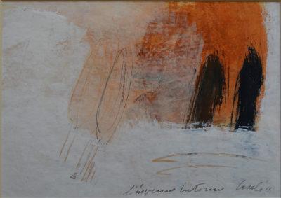 Alfredo Casali - L'inverno interno - olio su carta - cm 25x35 - anno 2014