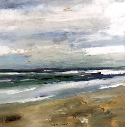 Ivo Stazio - Marina - olio su tela - cm 71 x 71 - anno 2019