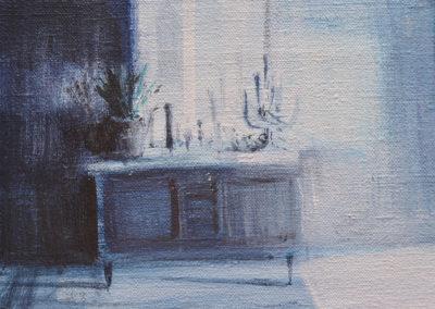 Tina Sgro - Minuscolo - acrilico su tela cm 13X18 - anno 2014