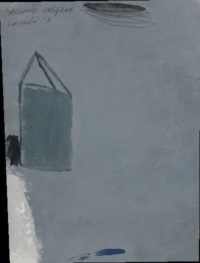 Alfredo Casali - Racconto Sospeso - olio su tela - cm 40 x 30 - anno 2013