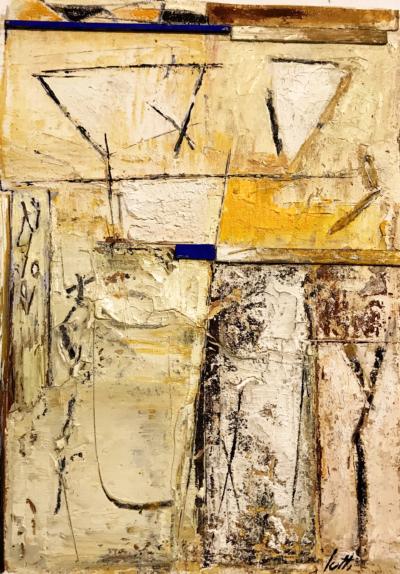 Marino Iotti - Senza titolo - olio su tela - cm 46x33 - anno 2019