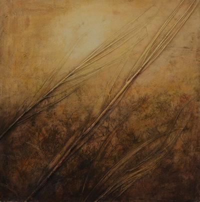 Daniela Carletti - Senza titolo - tecnica mista su tela - cm 80x80 - anno 2008