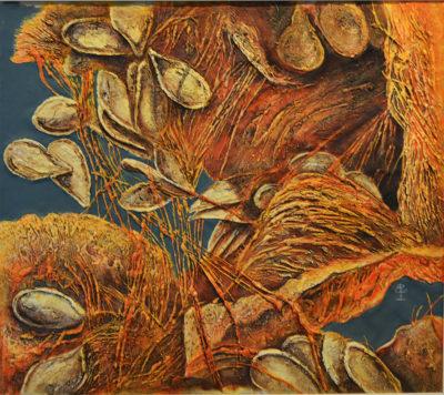 Bruno Pegoretti - Still life - tecnica mista su tela cm 65X70 - anno 2010