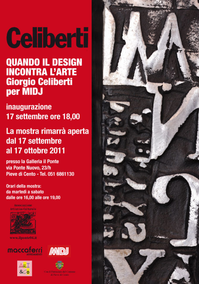 Quando il Design incontra l'arte – Giorgio Celiberti